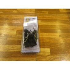 Kadee #745 Medium Centerset Shank Metal Couplers & Plastic Body (2 Pair in pkg)