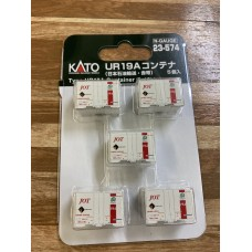 KATO 23-574UR19Aコンテナ(日本石油輸送・赤帯) 5個入