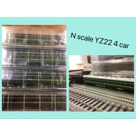 N Scale LJNScale YZ22 Seating Coach 4 Car